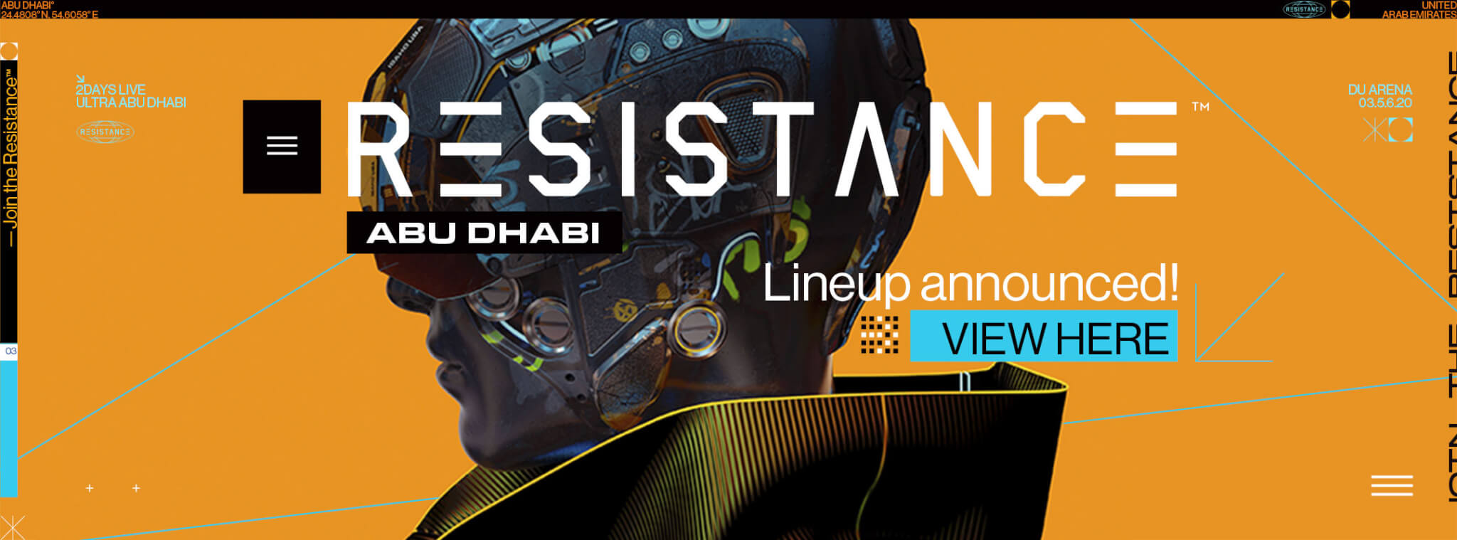 View the Resistance Abu Dhabi Lineup